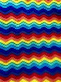 Вязание крючком пульсации радуги Стоковые Изображения RF
