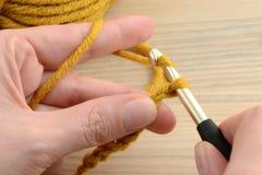 Вязание крючком с шерстями Стоковое Изображение RF