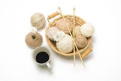 Вязание крючком yarns шарик Стоковое Фото