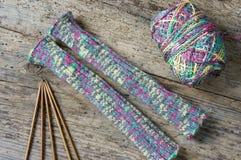 вязать зима подарка на рождество перчатки шерстей Стоковые Фото