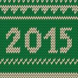 Вязать картина рождества безшовная с 2015 Стоковое Изображение