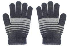 2 вязать перчатки изолированной на белизне Стоковое Изображение