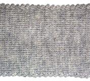 Вязать предпосылка текстуры шерстей Конец-вверх связанного шерстяного te Стоковая Фотография