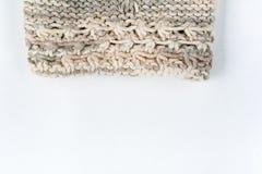 Вязать текстуры ткани свитера или шарфа большой Связанная предпосылка jersey с картиной сброса Оплетки в вязать Стоковое Изображение RF