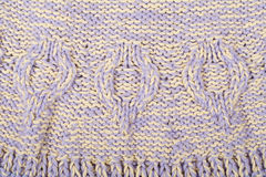 Вязать текстуры ткани свитера или шарфа большой Связанная предпосылка jersey с картиной сброса Оплетки в вязать Стоковые Фото