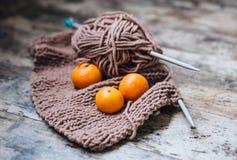 Вязать, tangerine стоковое фото