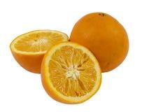 Вянуть апельсины на белой предпосылке Стоковые Изображения