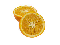 Вянуть апельсины на белой предпосылке Стоковое фото RF