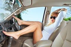 В автомобиле Стоковая Фотография