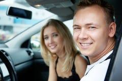 В автомобиле Стоковое Фото