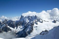 Вдавленные места du Midi в швейцарских Альпах Стоковые Изображения RF