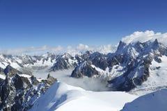 Вдавленные места du Midi в швейцарских Альпах Стоковые Фотографии RF