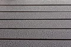 Влажная деревянная вода падает отражения Стоковая Фотография