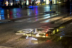 Влажная майна велосипеда Стоковое Фото