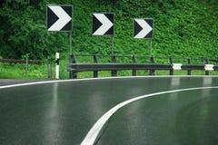Влажная дорога Стоковые Фото