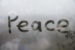 Влажное окно Стоковая Фотография RF