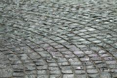 Влажные кирпичи улицы Стоковая Фотография