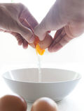 Влажные яичка и яичко в чашке формируют. Стоковые Изображения RF