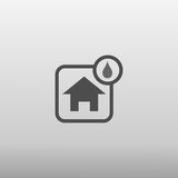Влажный значок дома Стоковая Фотография