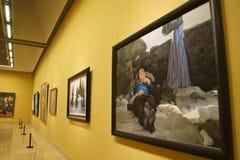В Азии, Китай, Пекин, музей изобразительных искусств, план выставочного зала, дизайн интерьера стоковые изображения