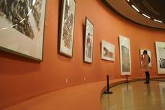 В Азии, Китай, Пекин, музей изобразительных искусств, план выставочного зала, дизайн интерьера стоковое изображение