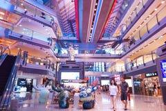 В Азии, Пекин, Китай, здание Parkview зеленое стоковое фото