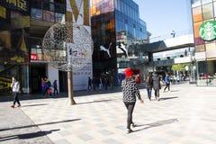 В Азии, Пекин, Китай, раскрывает район покупок, Taikoo Li Sanlitun Стоковые Изображения