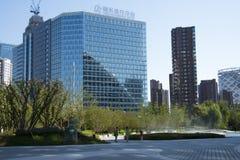 В Азии, Пекин, Китай, центр Raycom Wangjing, современная архитектура Стоковые Фото