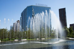 В Азии, Пекин, Китай, центр Raycom Wangjing, современная архитектура Стоковое фото RF