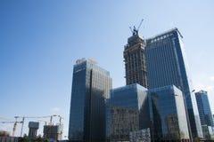 В Азии, Пекин, Wangjing, Китай, современная архитектура, зеленый центр Стоковые Изображения