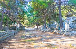 В античном Phaselis, Tekirova, Турция Стоковое фото RF