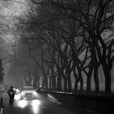 Власти Пекина поддерживают уровень красного цвета сигнала тревоги смога Стоковая Фотография RF