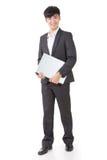 Владение бизнесмена компьтер-книжка стоковые изображения