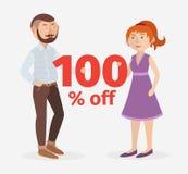 Владение 100% пар вектора с знака Стоковая Фотография