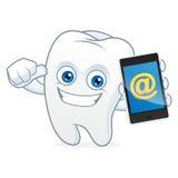 Владение талисмана шаржа зуба, телефон Стоковое Фото