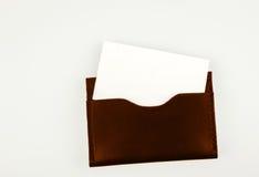 Владелец карточки дела золота с ясной визитной карточкой Стоковое Изображение RF