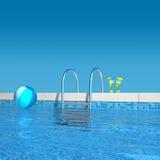В бассейне Стоковое фото RF