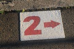 2 в белизне на тропе Стоковые Изображения RF