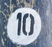 10 в белом круге Стоковые Изображения