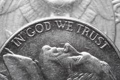 В боге мы доверяем Стоковое Изображение
