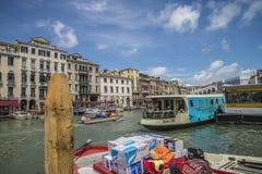 В Венеции (грандиозный канал) Стоковая Фотография