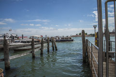 В Венеции (грандиозный канал) Стоковое Фото