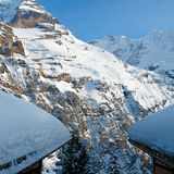 В высокогорных горах Стоковые Изображения