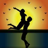 В влюбленности Стоковые Изображения