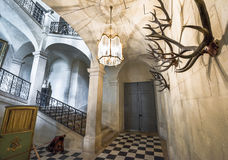 В галерее звероловства на экспозиции замка стоковые изображения rf