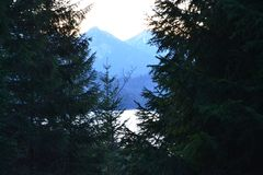 В горах около замка Нойшванштайна Стоковое фото RF