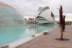 В городе ` ` искусства и науки Испания valencia Стоковое Изображение RF