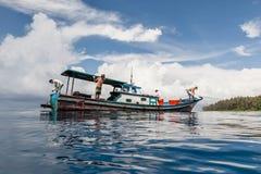 В голубую, северную Суматру Стоковое Изображение