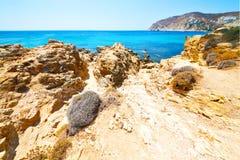 в Греции небо острова голубое Стоковые Изображения RF