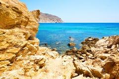 в Греции небо острова mykonos Стоковые Фотографии RF